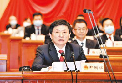 省委常委,省人大常委会副主任,市委书记邢国辉讲话